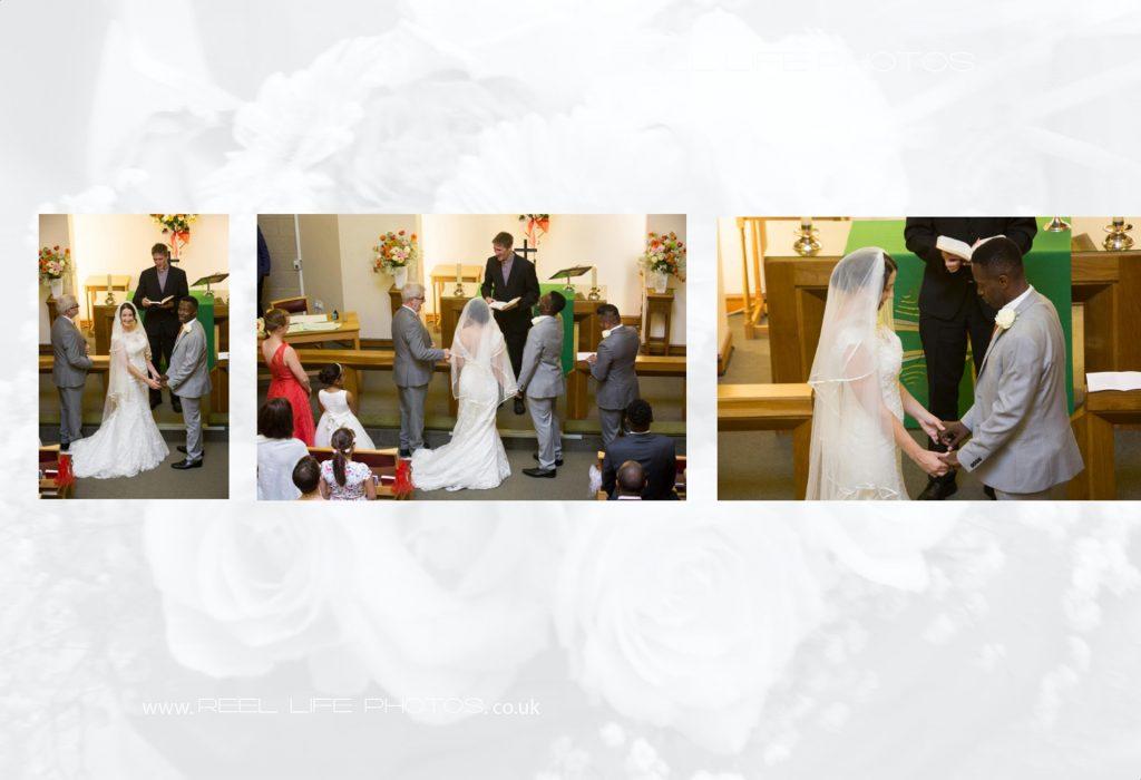 Beautiful church wedding ceremony in Leeds