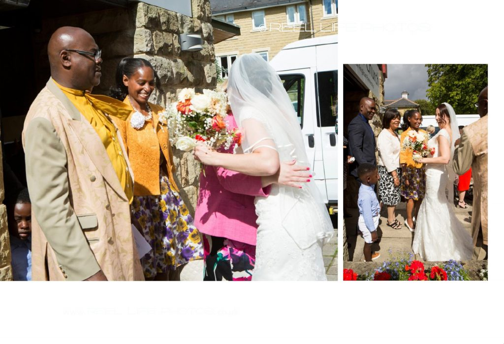 natural wedding photography in Leeds - page from storybook