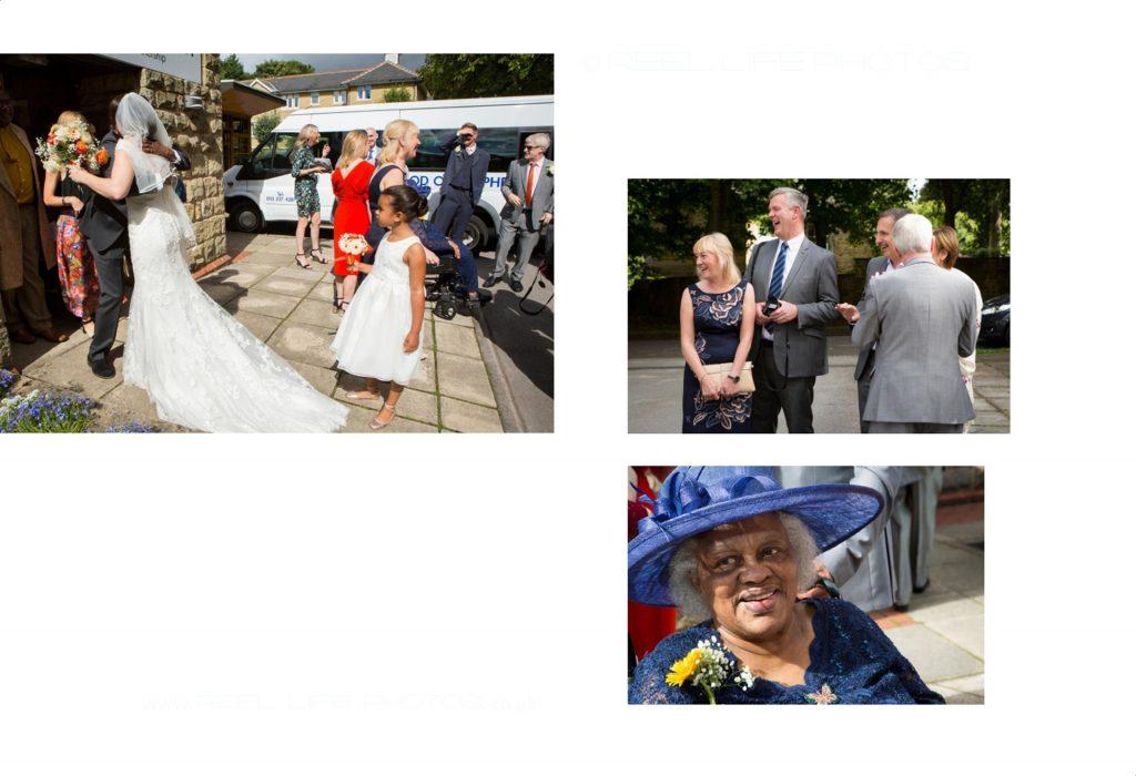 Fun church wedding pictures in Leeds