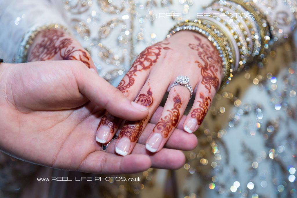 Arabic Asian wedding ring details