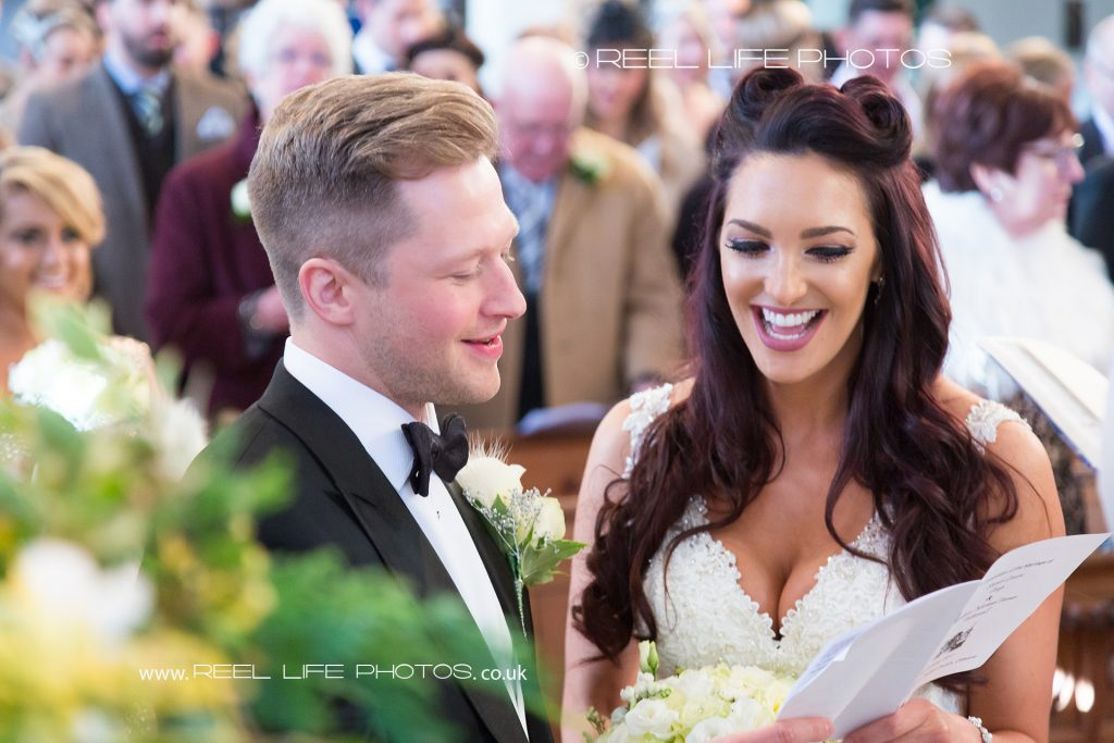 wedding ceremony at St Mary Magdalene church in Clitheroe