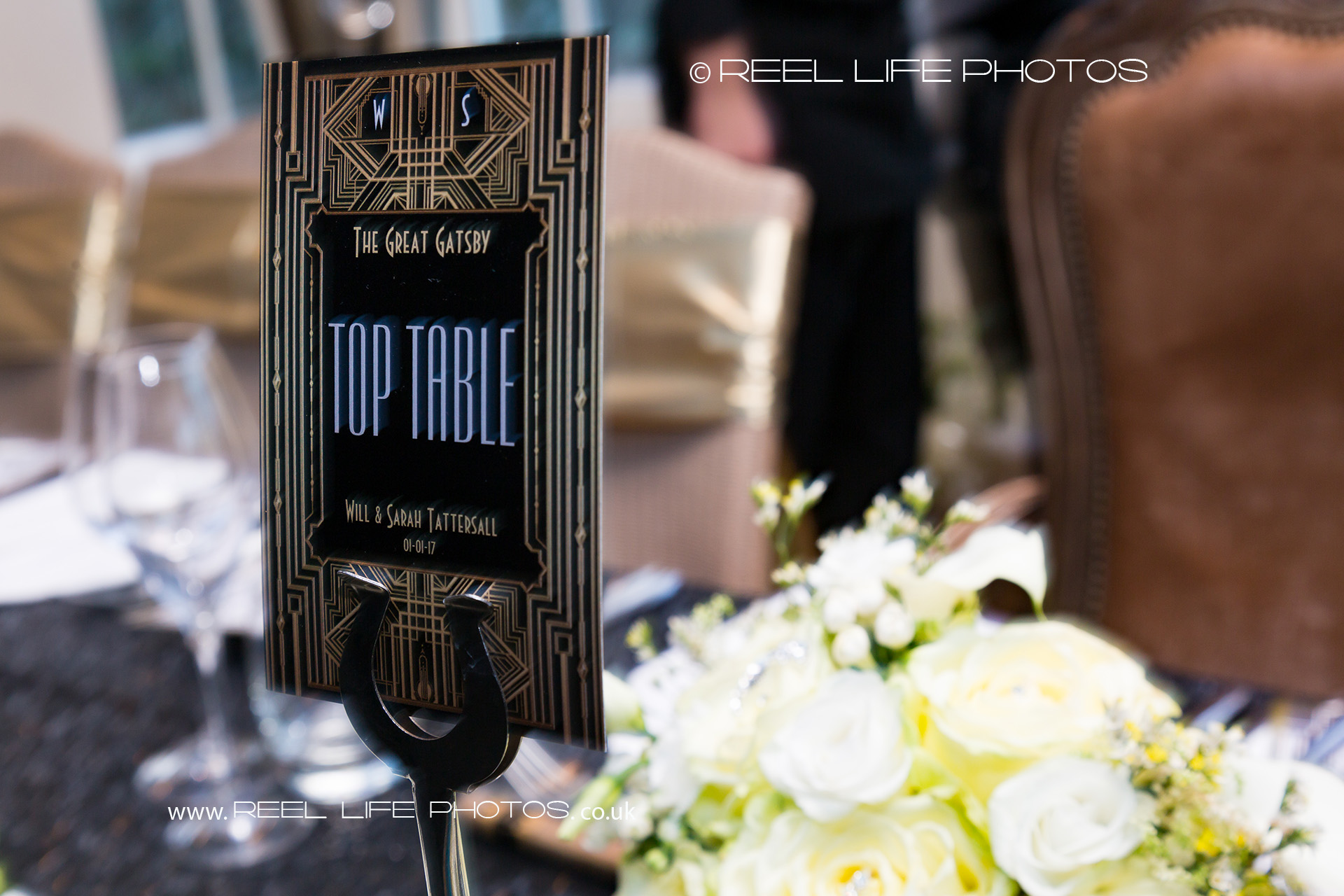 Great Gatsby wedding details