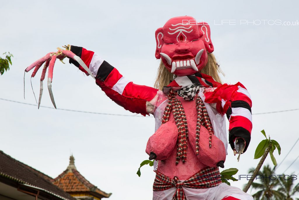Ogoh-Ogoh parade in Bali at Nyepi