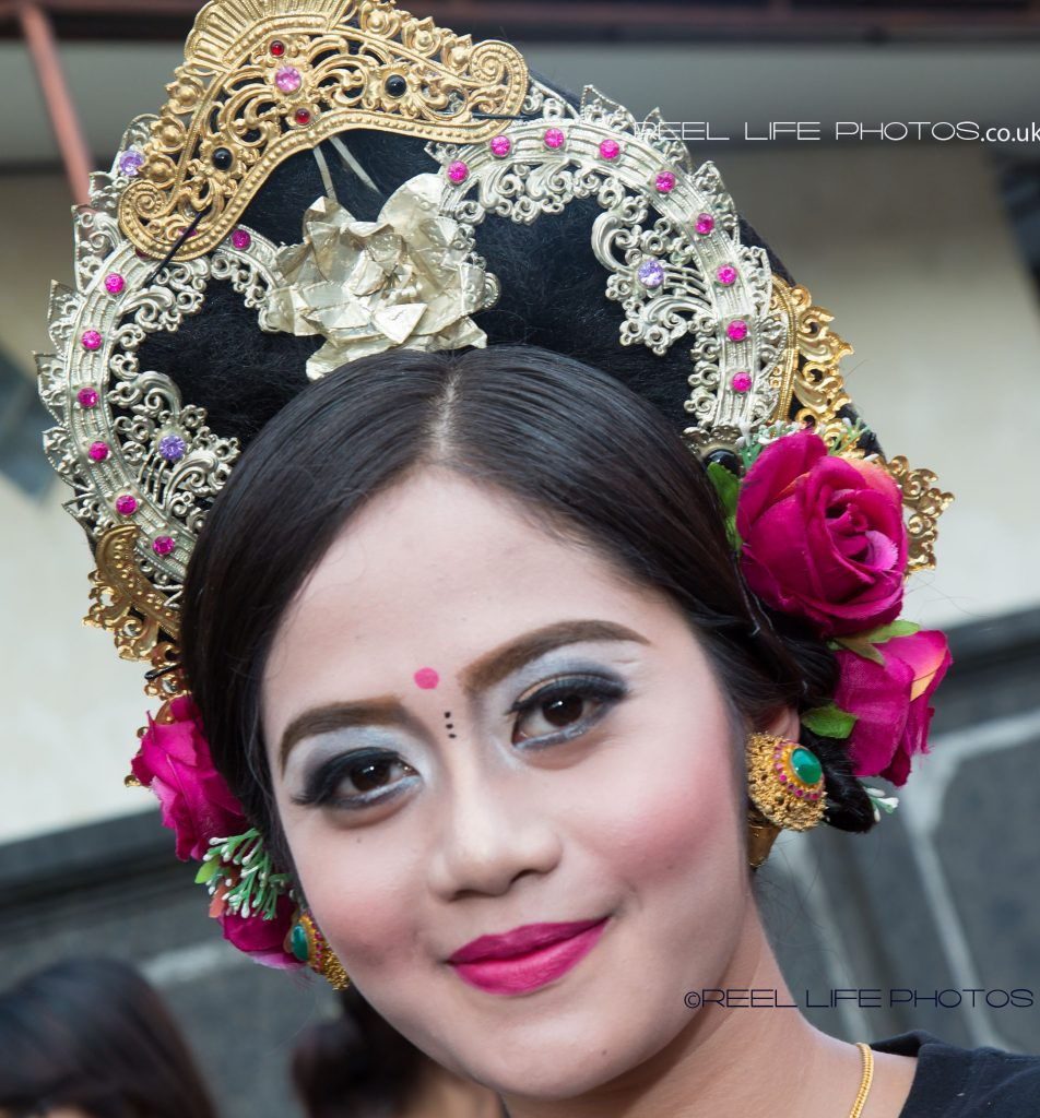 Nyepi parade in Bali 2017 with carnival queen