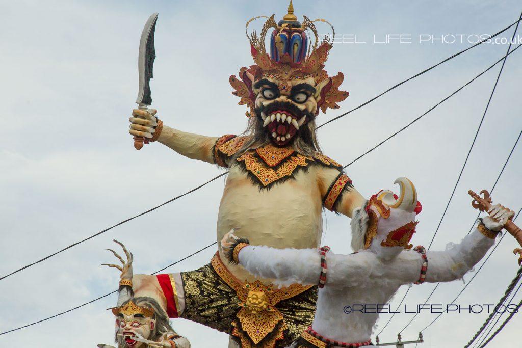 Ogoh-Ogoh brandishing a machete