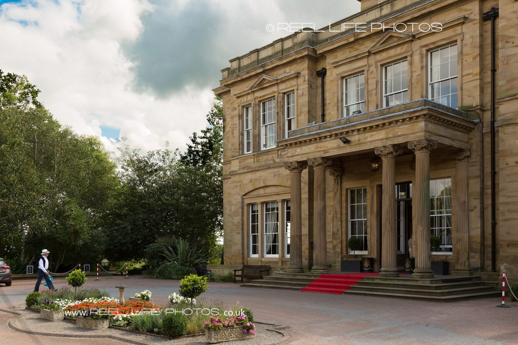Main entrance exterior view of Oulton Hall