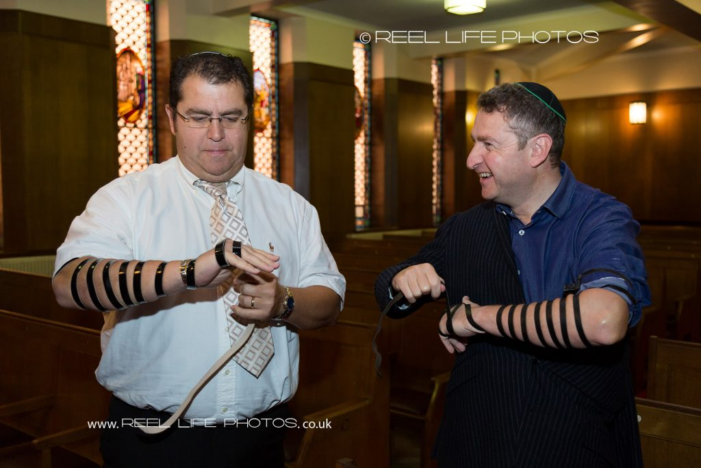 Tefillin at Jewish Synagogue in Manchester