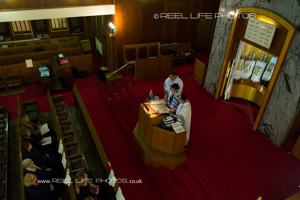 Tefillin Ceremony before Bar Mitzvah in Manchester Reform Synagogue, Jackson Row