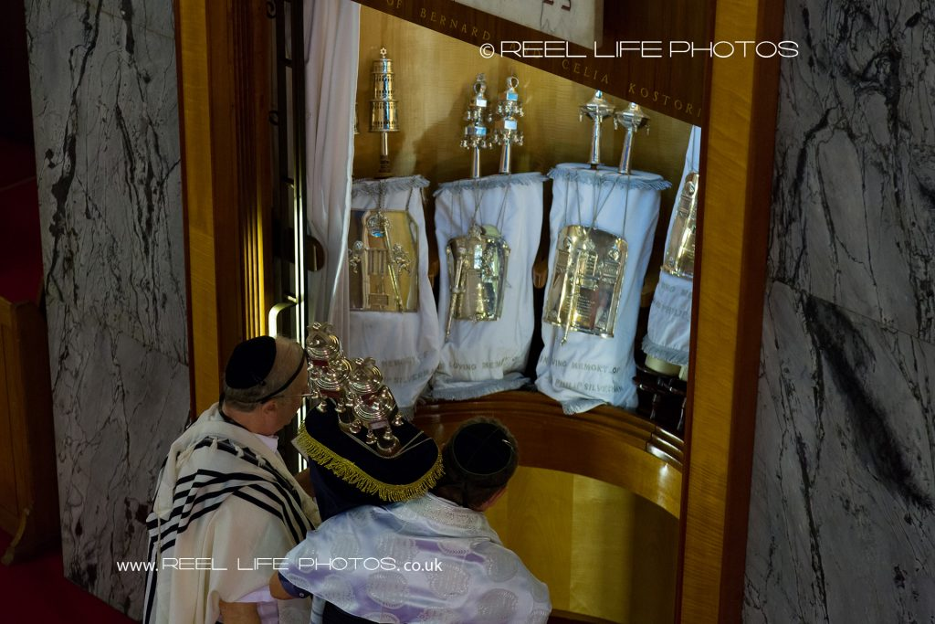 The Ark with Torah Scrolls at Tefillin in Manchester