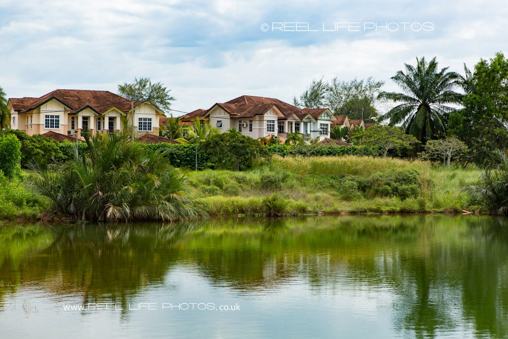 View across the lake at Kelab Bandar Laguna Merbok in Malaysia,