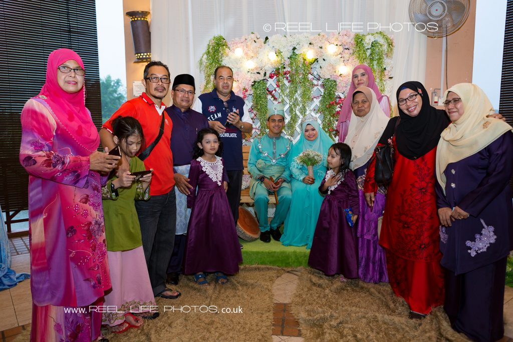 Malaysian wedding group photo