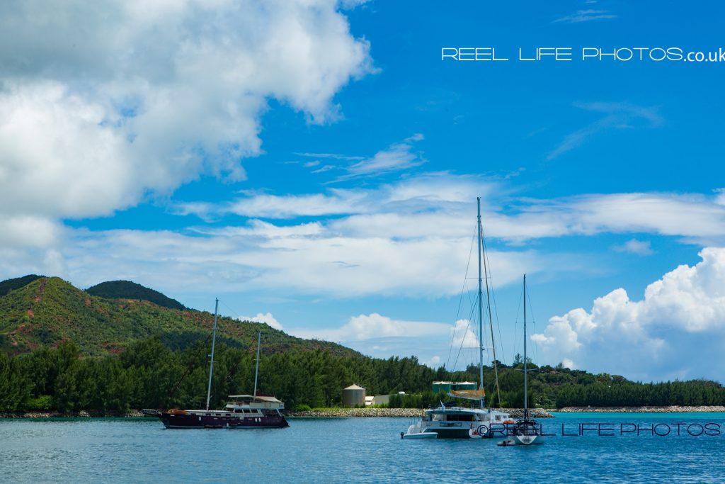 Boats near Mahe ferry terminal, The Seychelles