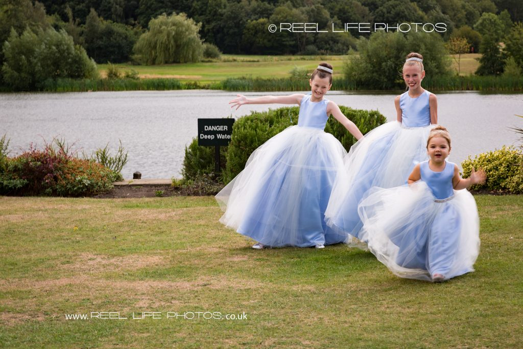 Natural photos after wedding ceremony Waterton Park Hotel