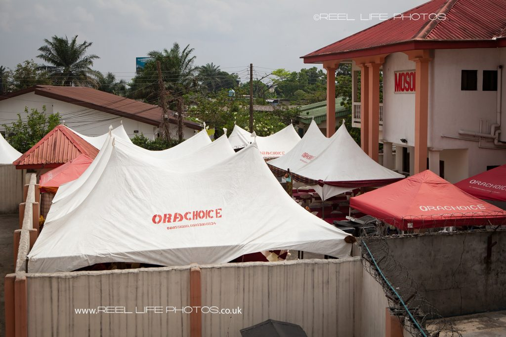 Marquee wedding reception in Nigeria