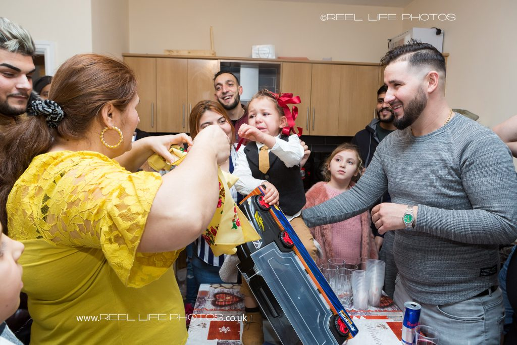 Romanian custom of 3 year old boy having his first ever haircut