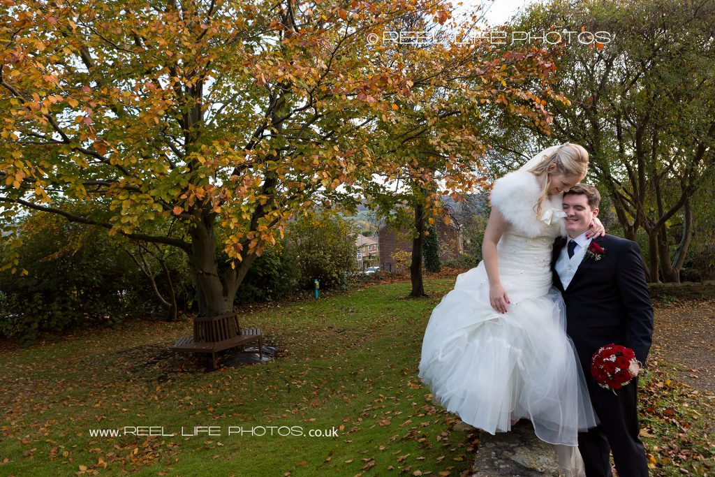 Natural wedding pics at Northorpe Hall Barn in Mirfield, West Yorkshire