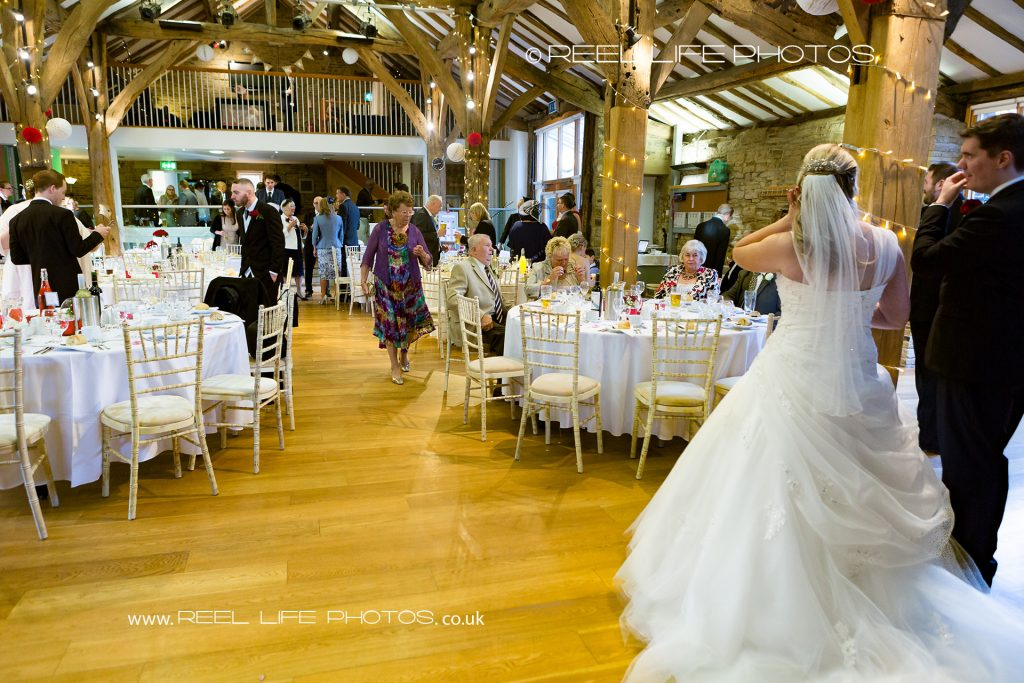 wedding reception at Northorpe Hall Barn