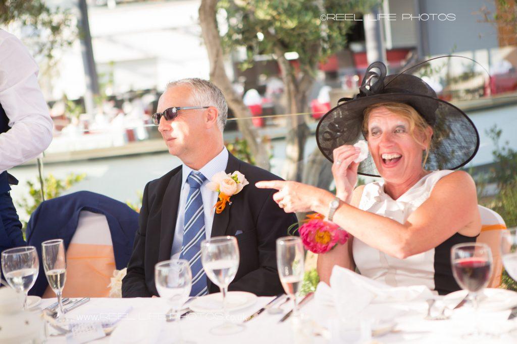 Outdor wedding reception in Cyprus