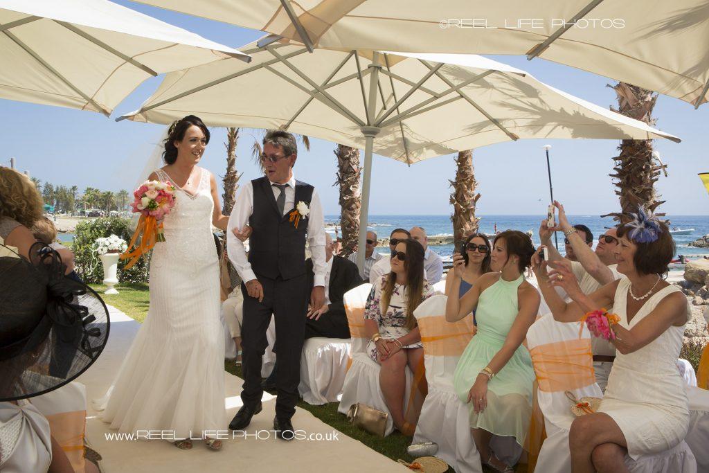Beach wedding by the sea in Cyprus