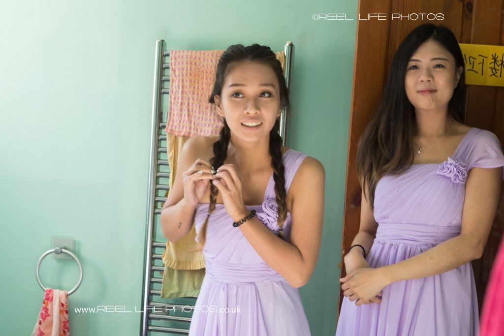 Two of the Chinese bridemaids.