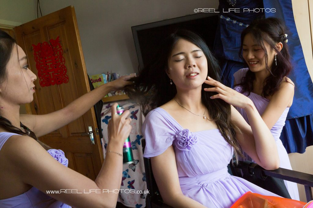 Chinese wedding day prep