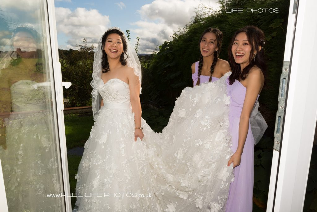 Chinese bride and bridesmaids